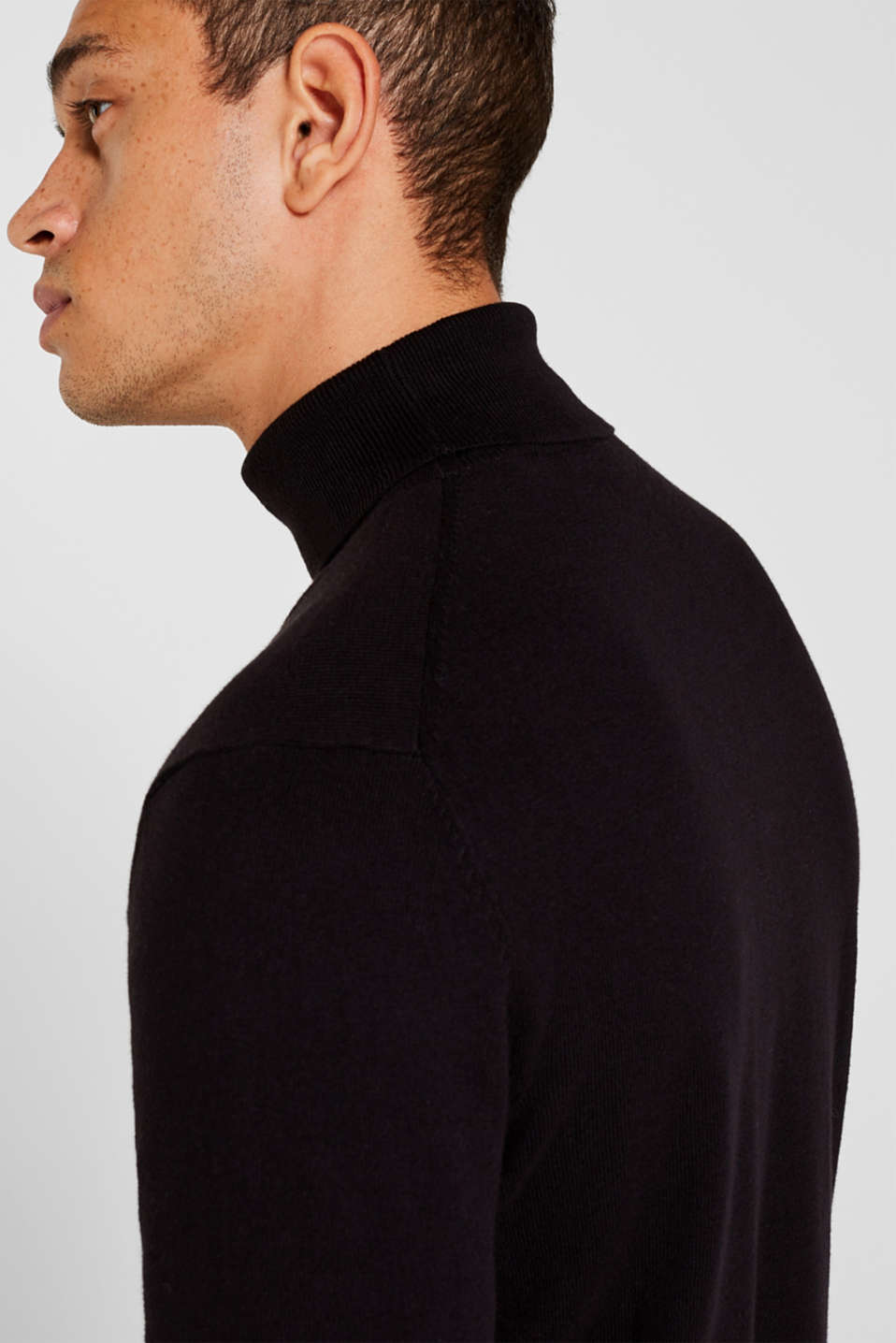 Sweaters, BLACK, detail image number 2
