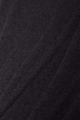 With cashmere: fine knit polo neck jumper, ANTHRACITE, detail