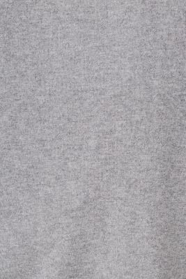 With cashmere: fine knit polo neck jumper, MEDIUM GREY, detail