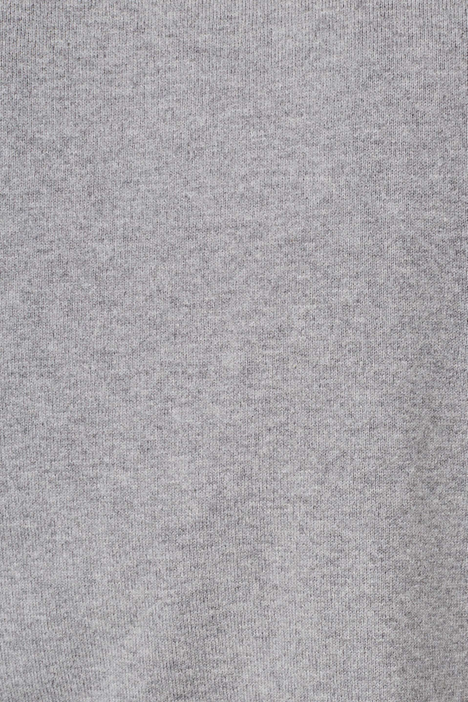With cashmere: fine knit polo neck jumper, MEDIUM GREY, detail image number 4