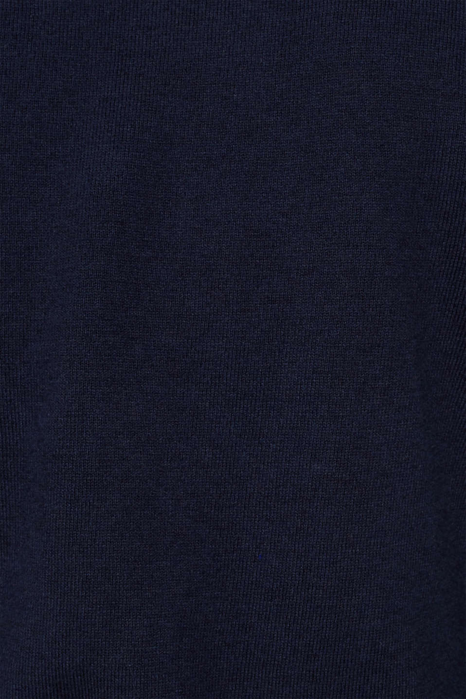 With cashmere: fine knit polo neck jumper, NAVY, detail image number 3
