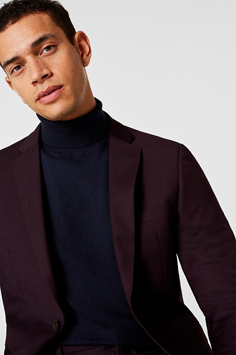 With cashmere: fine knit polo neck jumper