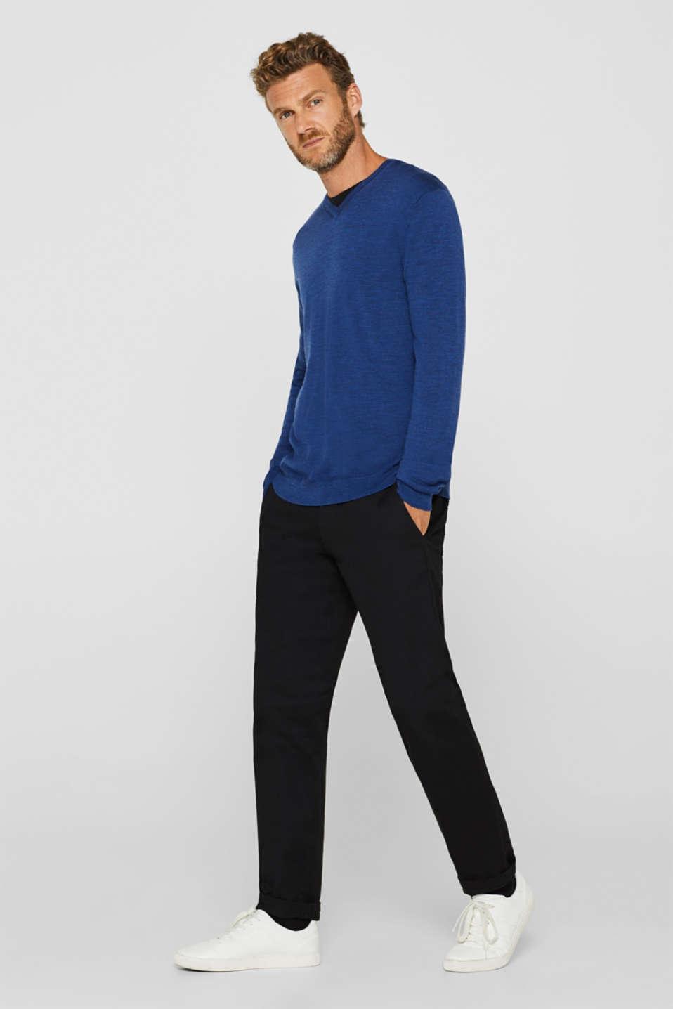 Sweaters, DARK BLUE, detail image number 1