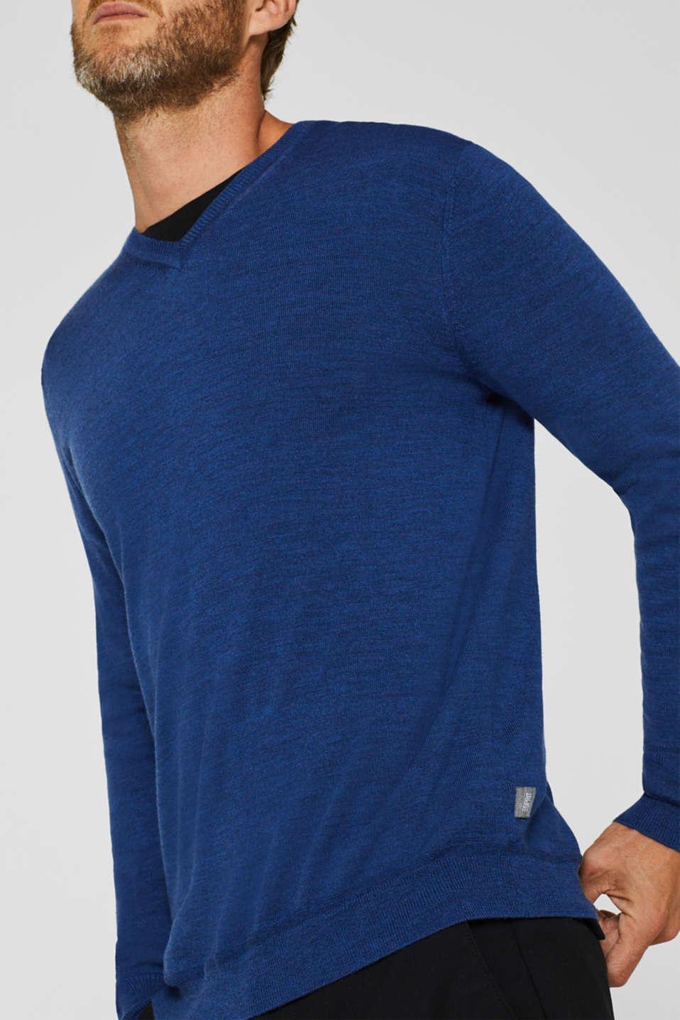 Sweaters, DARK BLUE, detail image number 2