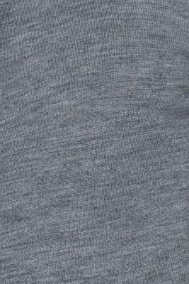 100% merino wool: zip-up cardigan