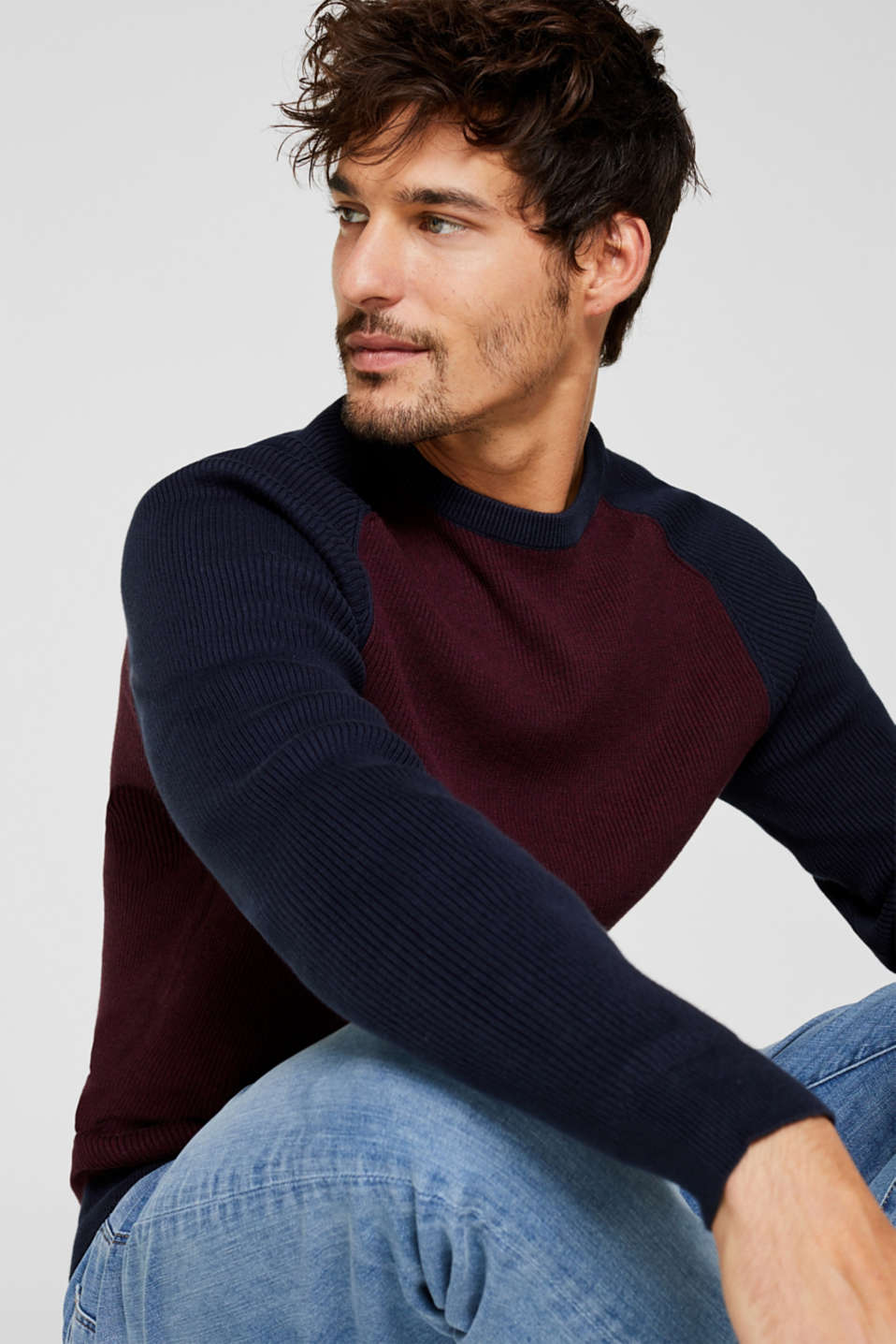 Esprit - Ribbed-Jumper made of 100% cotton