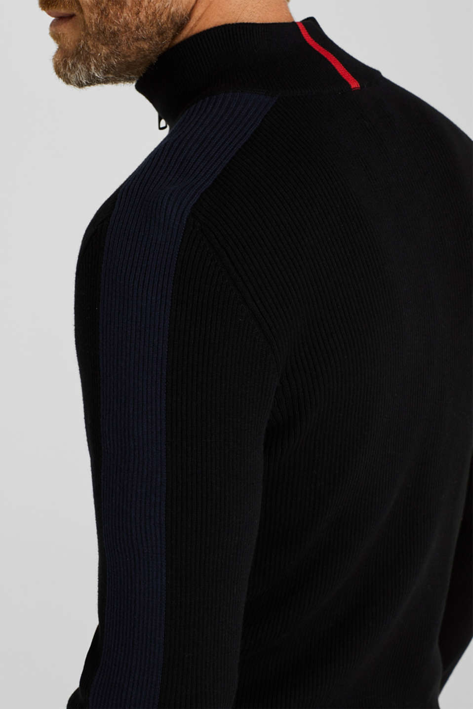 Knit cardigan in 100% cotton, BLACK, detail image number 6
