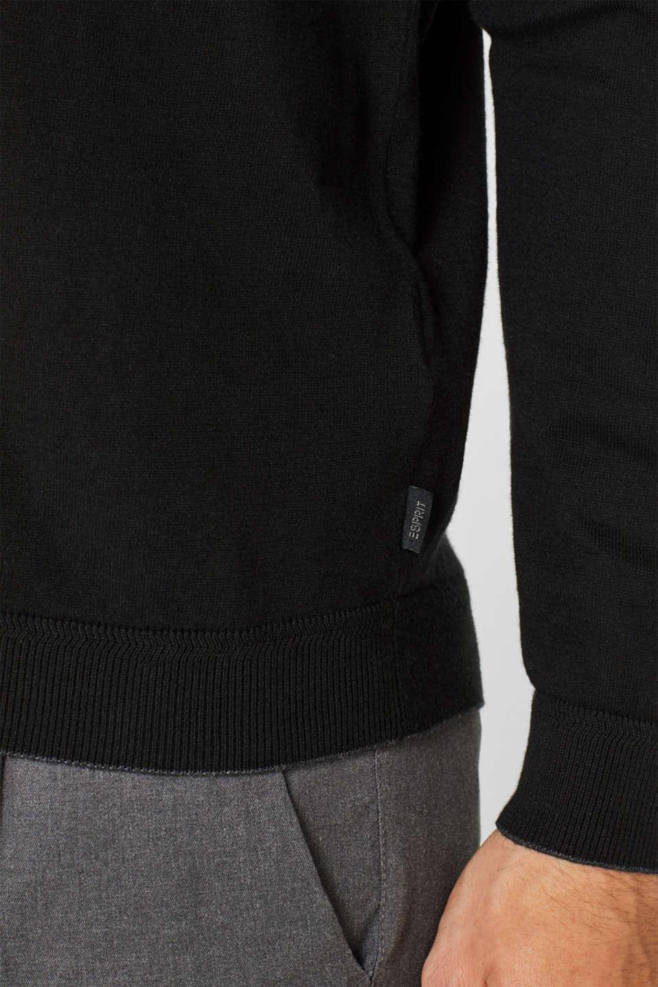 Sweaters, BLACK, detail image number 1