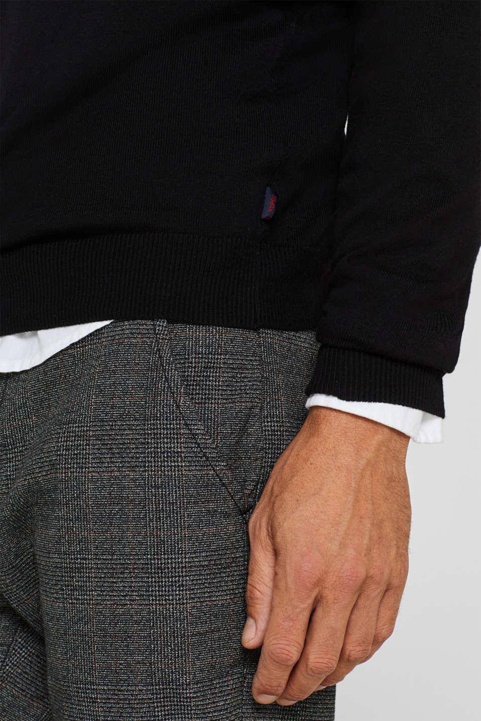 Sweaters, BLACK, detail image number 6