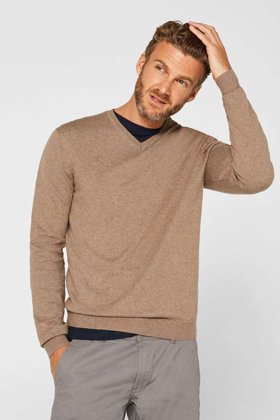 Sweaters, TAUPE, detail image number 0