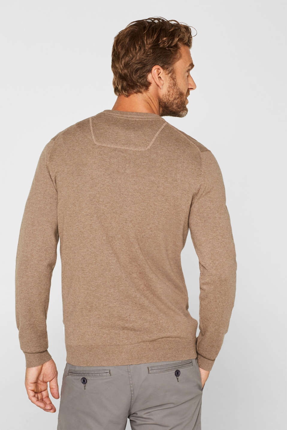 Sweaters, TAUPE, detail image number 3