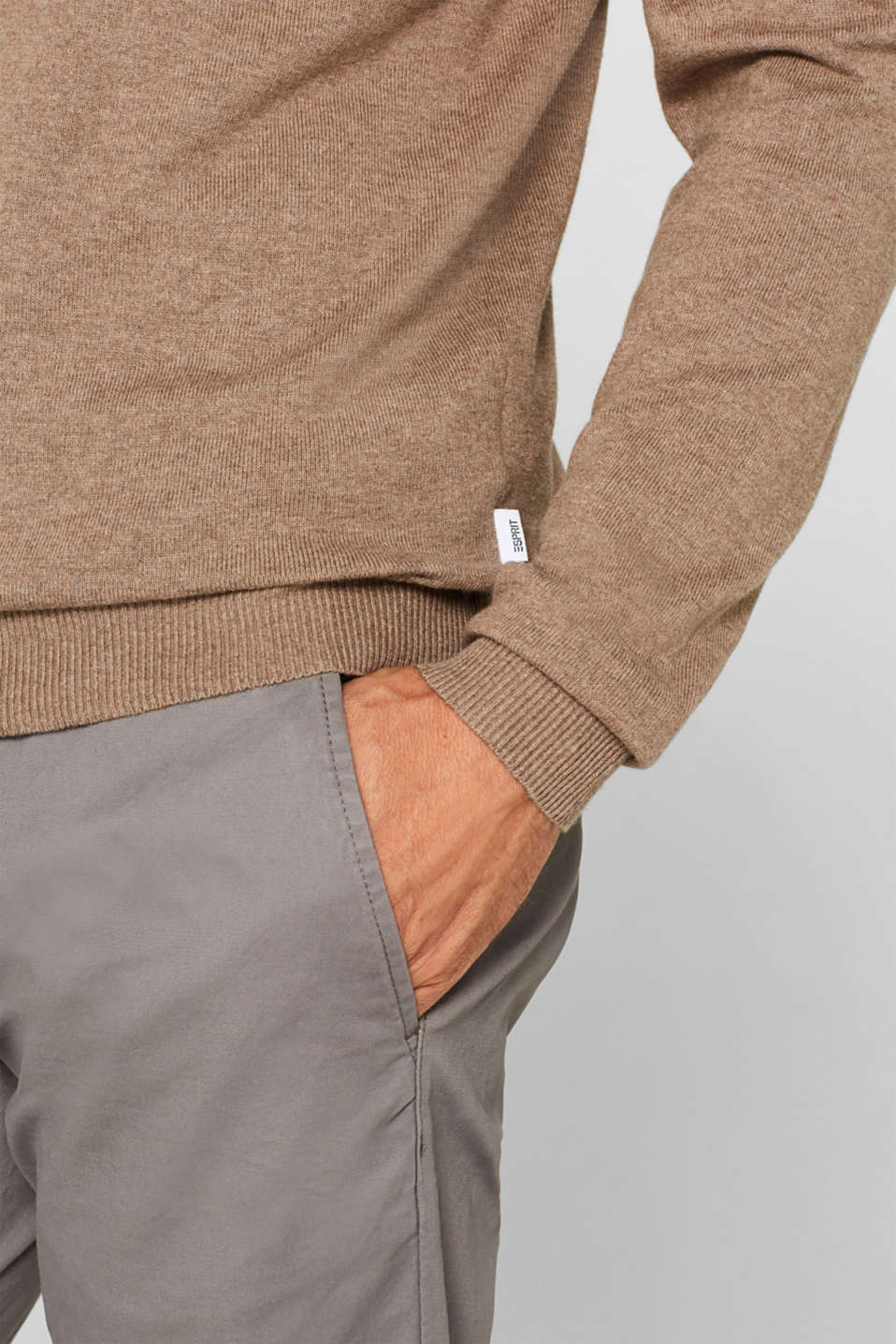 Sweaters, TAUPE, detail image number 2