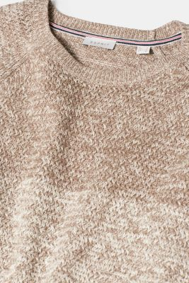 Textured knit jumper, 100% cotton