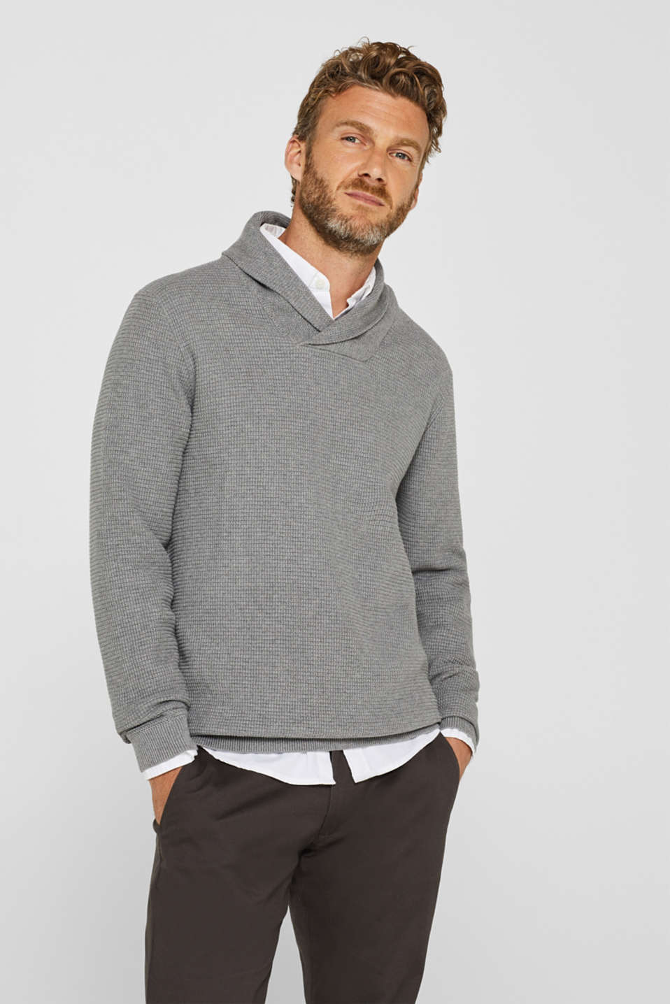 Esprit - Knit jumper made of 100% cotton