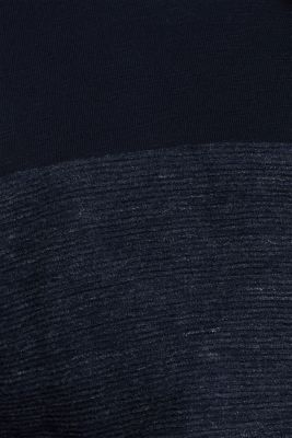 Sweatshirt cardigan with organic cotton, NAVY, detail