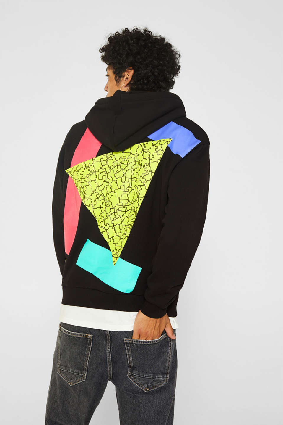 Sweatshirts, BLACK, detail image number 3