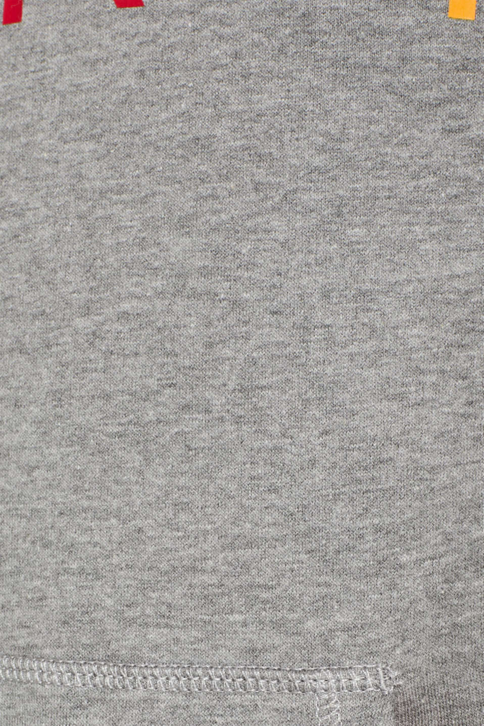 Hoodie with a logo print, MEDIUM GREY, detail image number 4