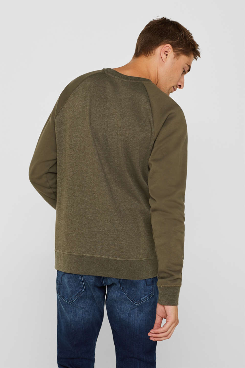 Sweatshirts, KHAKI GREEN, detail image number 3