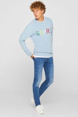 Sweatshirt with logo, 100% cotton, LIGHT BLUE, detail