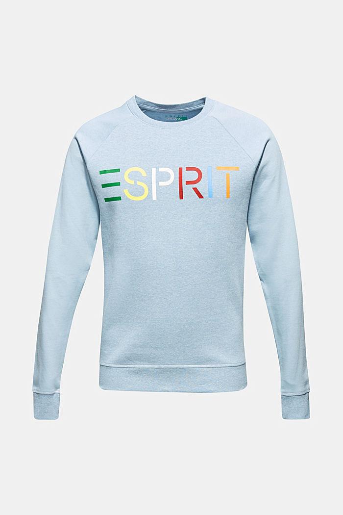 Sudadera con logotipo, 100% algodón, LIGHT BLUE, detail image number 0