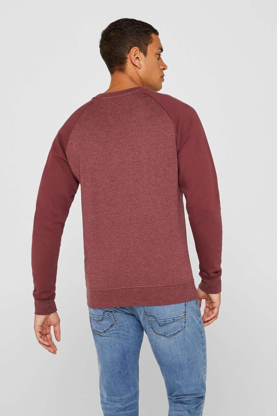 Sweatshirt with logo, 100% cotton, BLUSH, detail image number 3