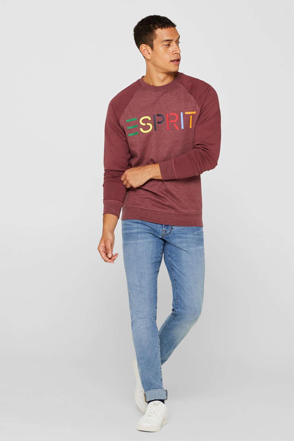 Sweatshirt with logo, 100% cotton, BLUSH, detail image number 1