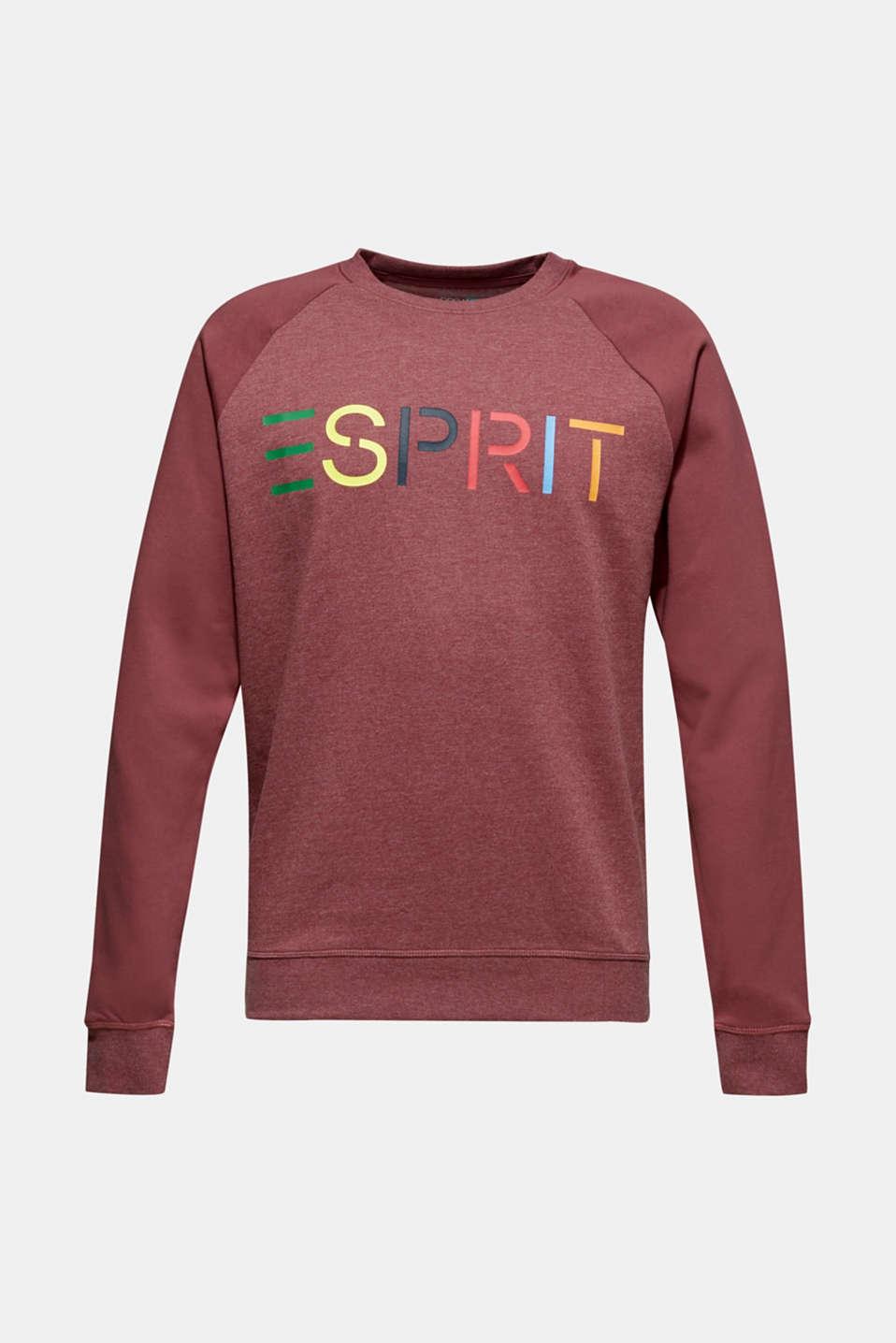 Sweatshirt with logo, 100% cotton, BLUSH, detail image number 6