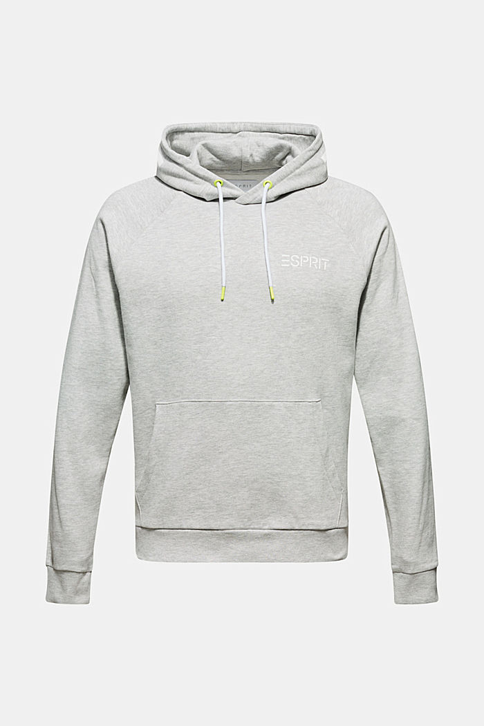Hoodie with a logo print, MEDIUM GREY, detail image number 7