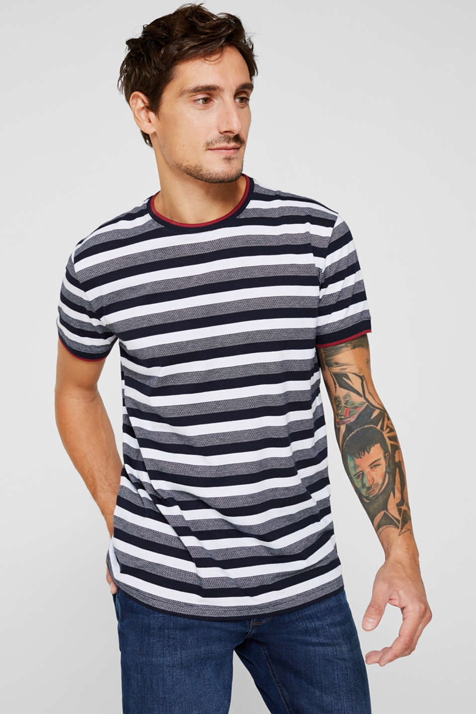 Jersey T-shirt in 100% cotton, NAVY, detail image number 0
