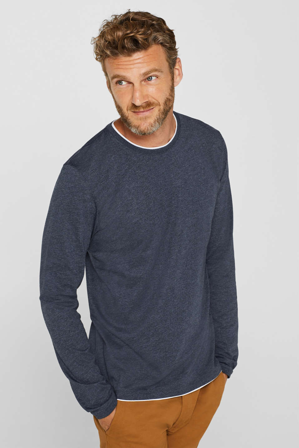 Esprit - Long sleeve jersey T-shirt in a layered look