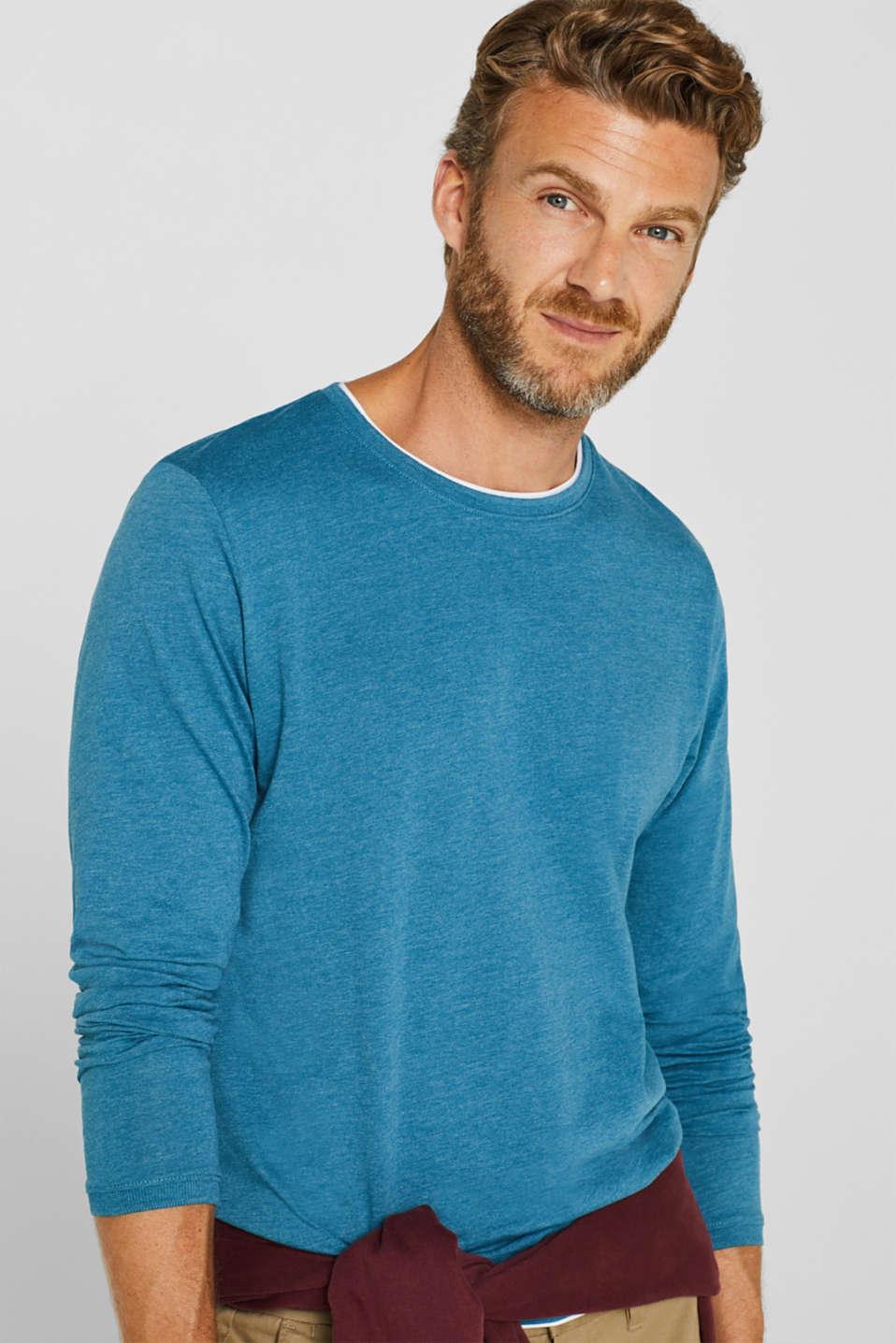 T-Shirts, PETROL BLUE, detail image number 5