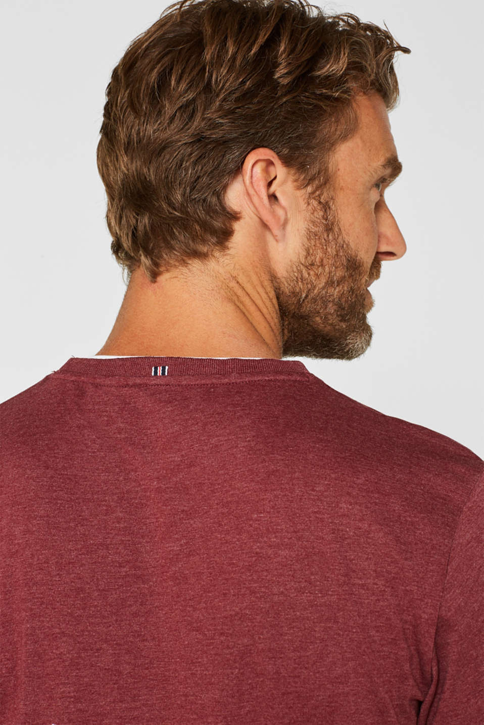 T-Shirts, BORDEAUX RED, detail image number 1