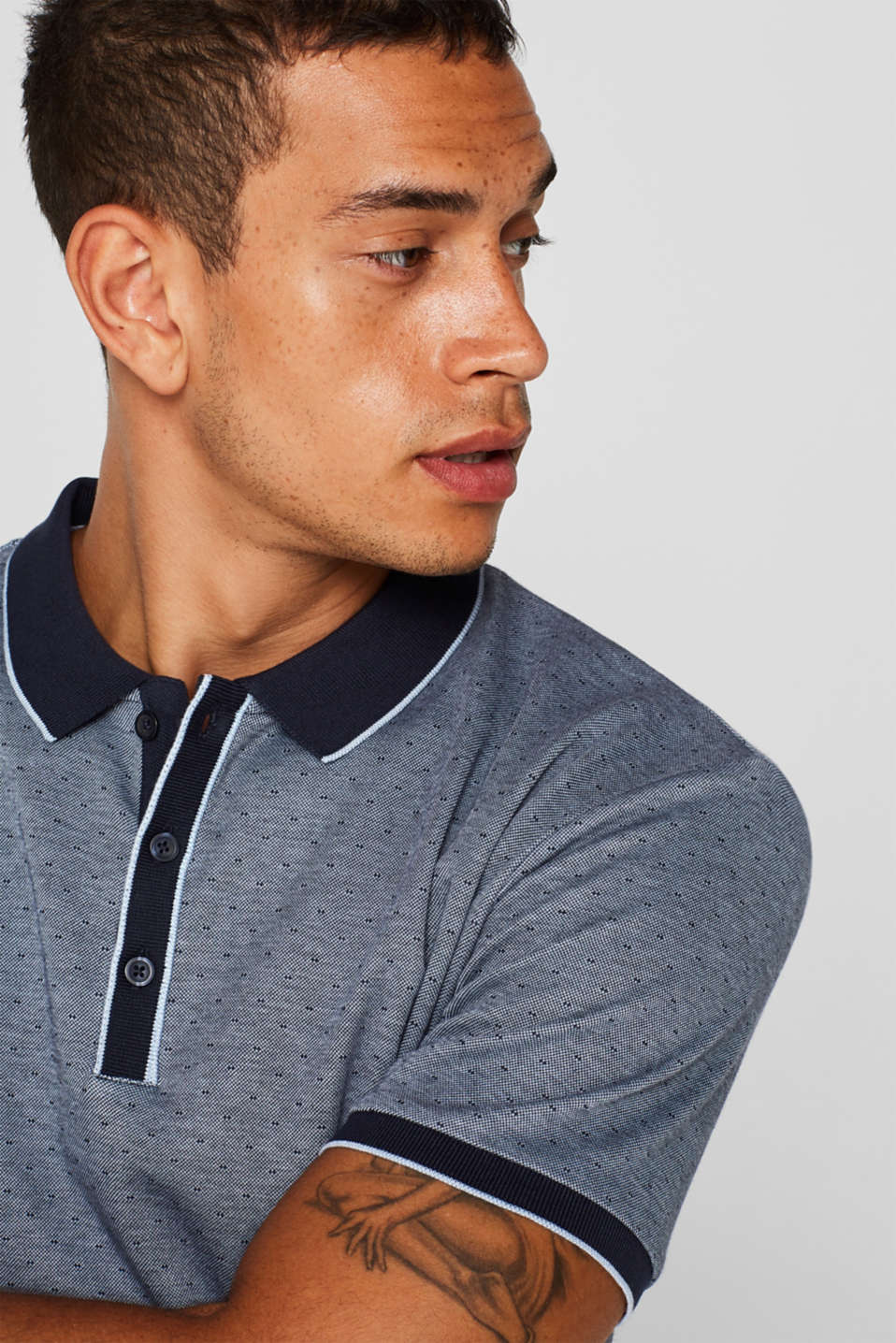 Polo shirts, NAVY, detail image number 1