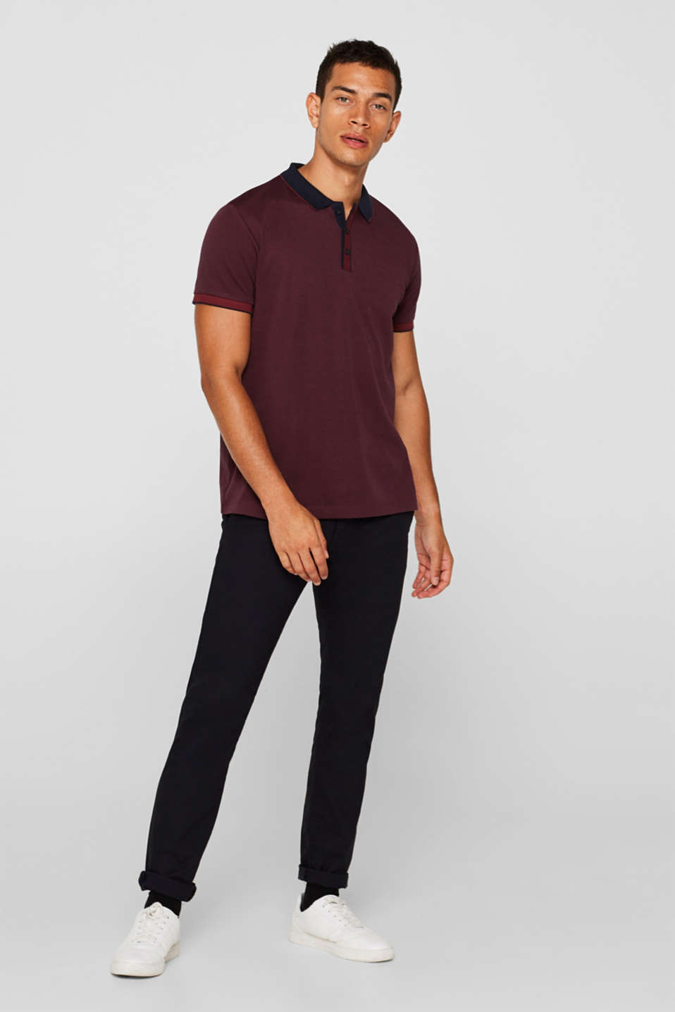 Polo shirts, BORDEAUX RED, detail image number 4