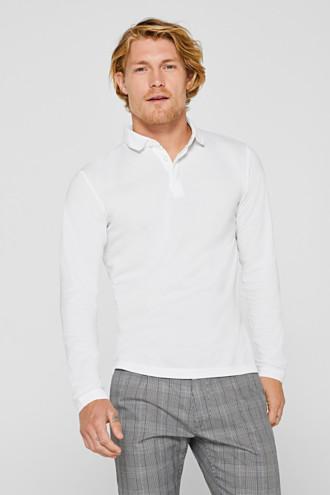 Piqué polo shirt made of 100% pima cotton