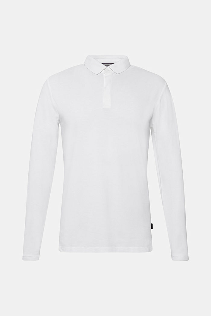 Piqué polo shirt made of 100% pima cotton, WHITE, detail image number 0