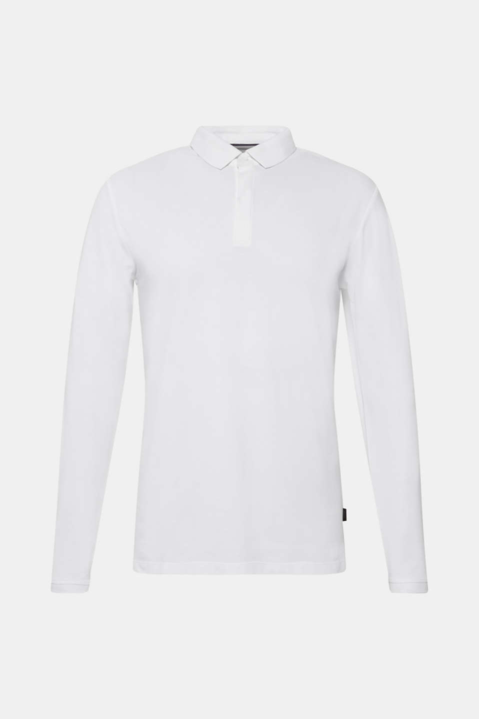 Piqué polo shirt made of 100% pima cotton, WHITE, detail image number 6
