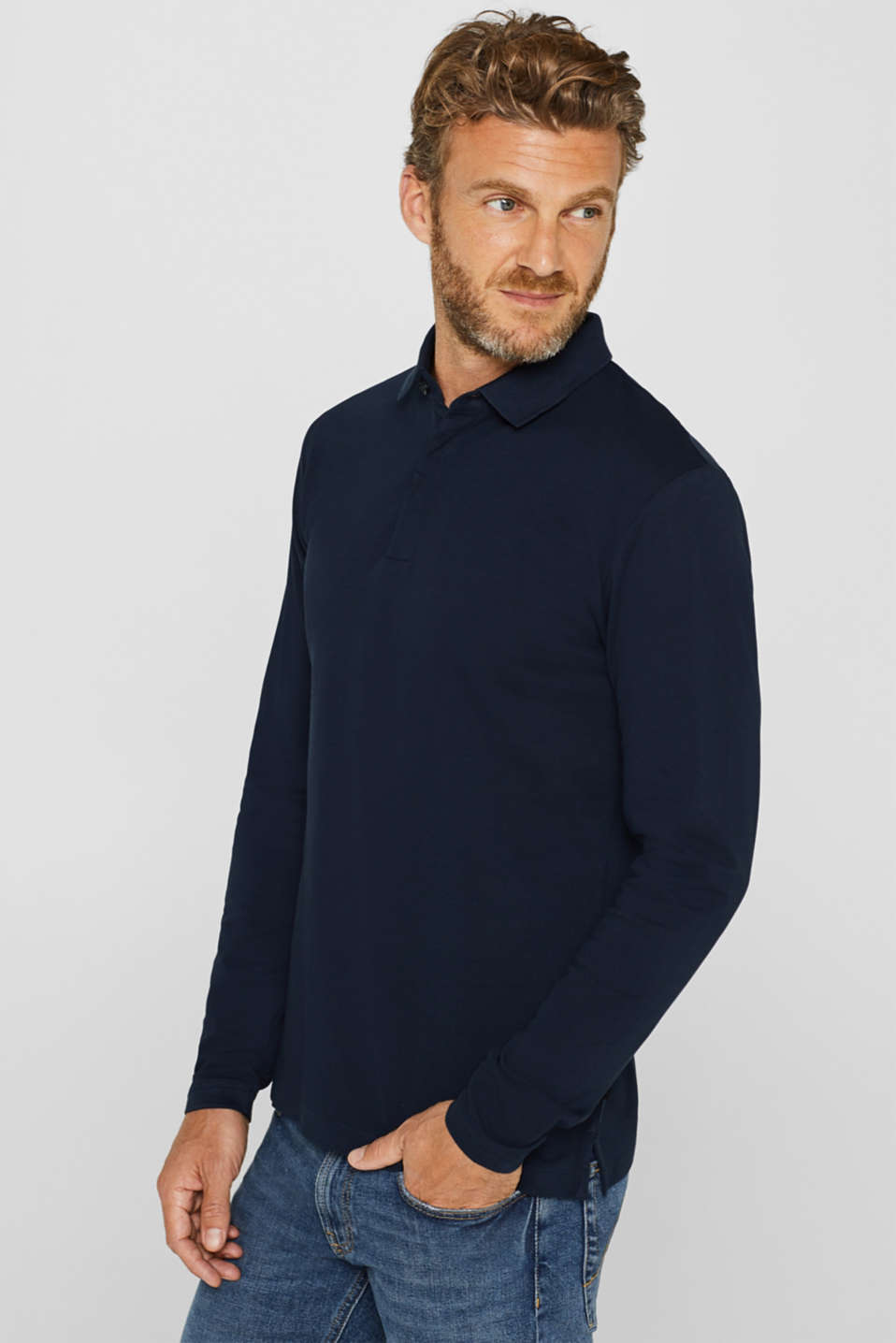 Esprit - Piqué polo shirt made of 100% pima cotton