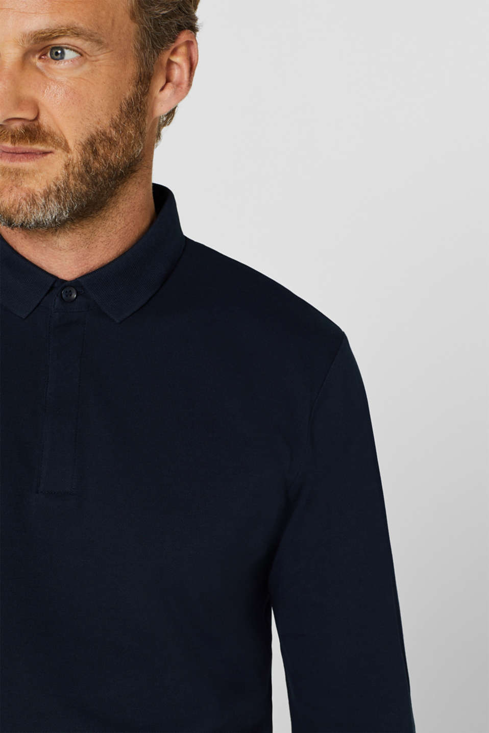 Piqué polo shirt made of 100% pima cotton, NAVY, detail image number 1
