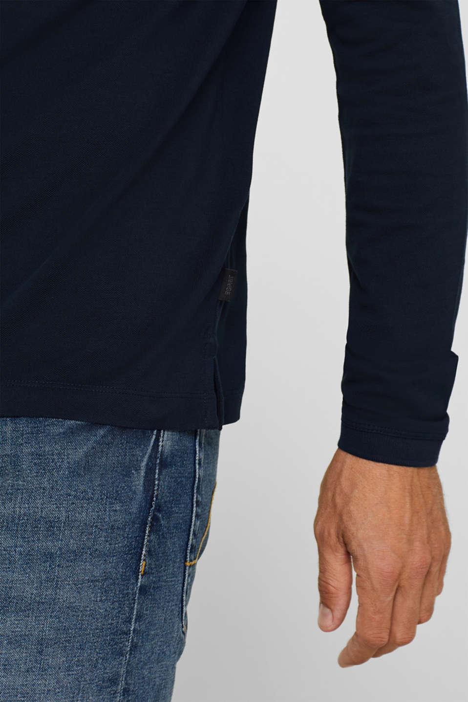 Piqué polo shirt made of 100% pima cotton, NAVY, detail image number 6