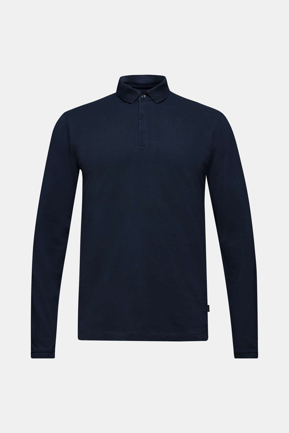 Piqué polo shirt made of 100% pima cotton, NAVY, detail image number 7