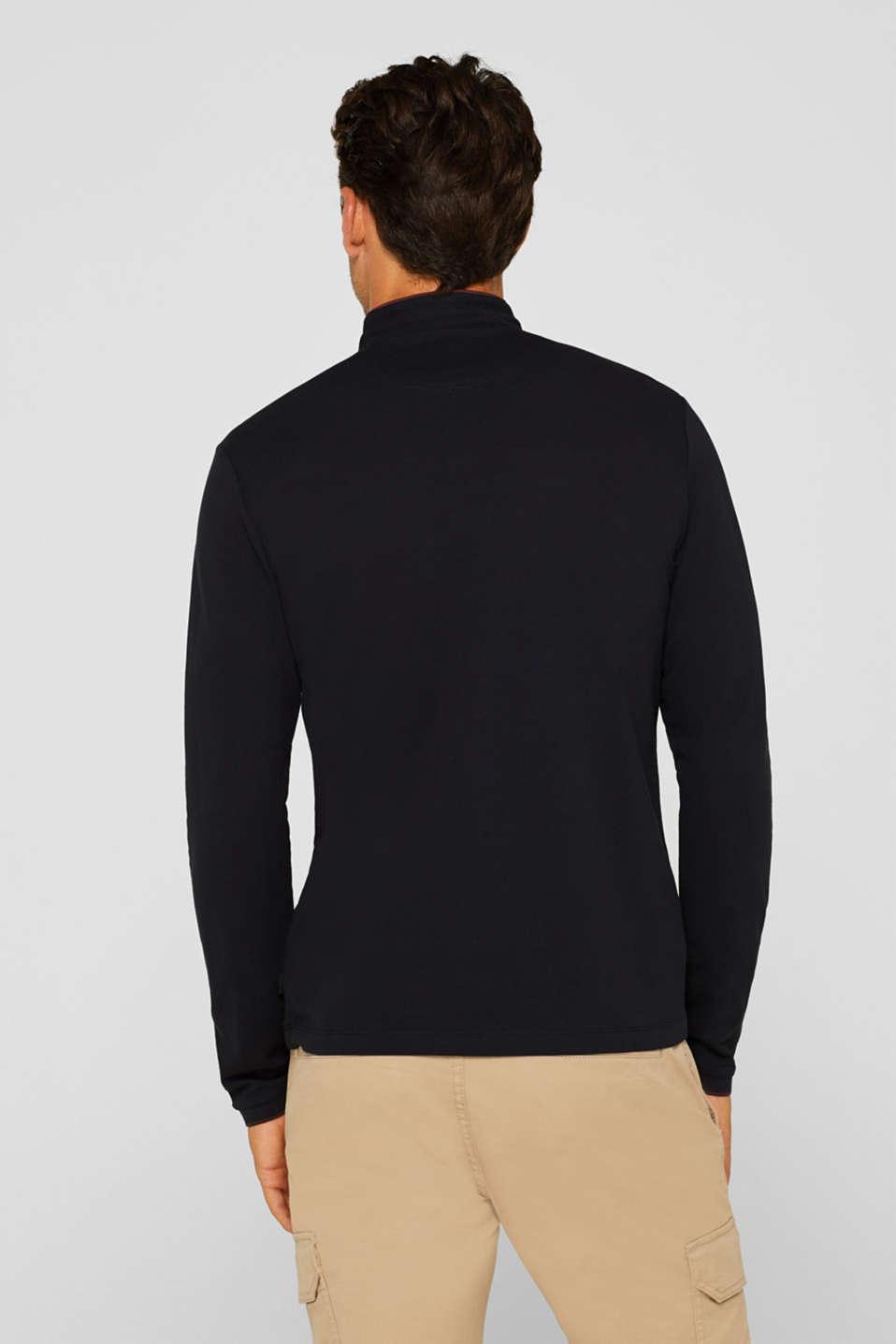 Piqué polo shirt made of Pima cotton, BLACK, detail image number 3