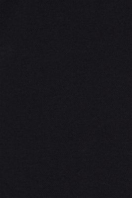 Piqué polo shirt made of Pima cotton, BLACK, detail