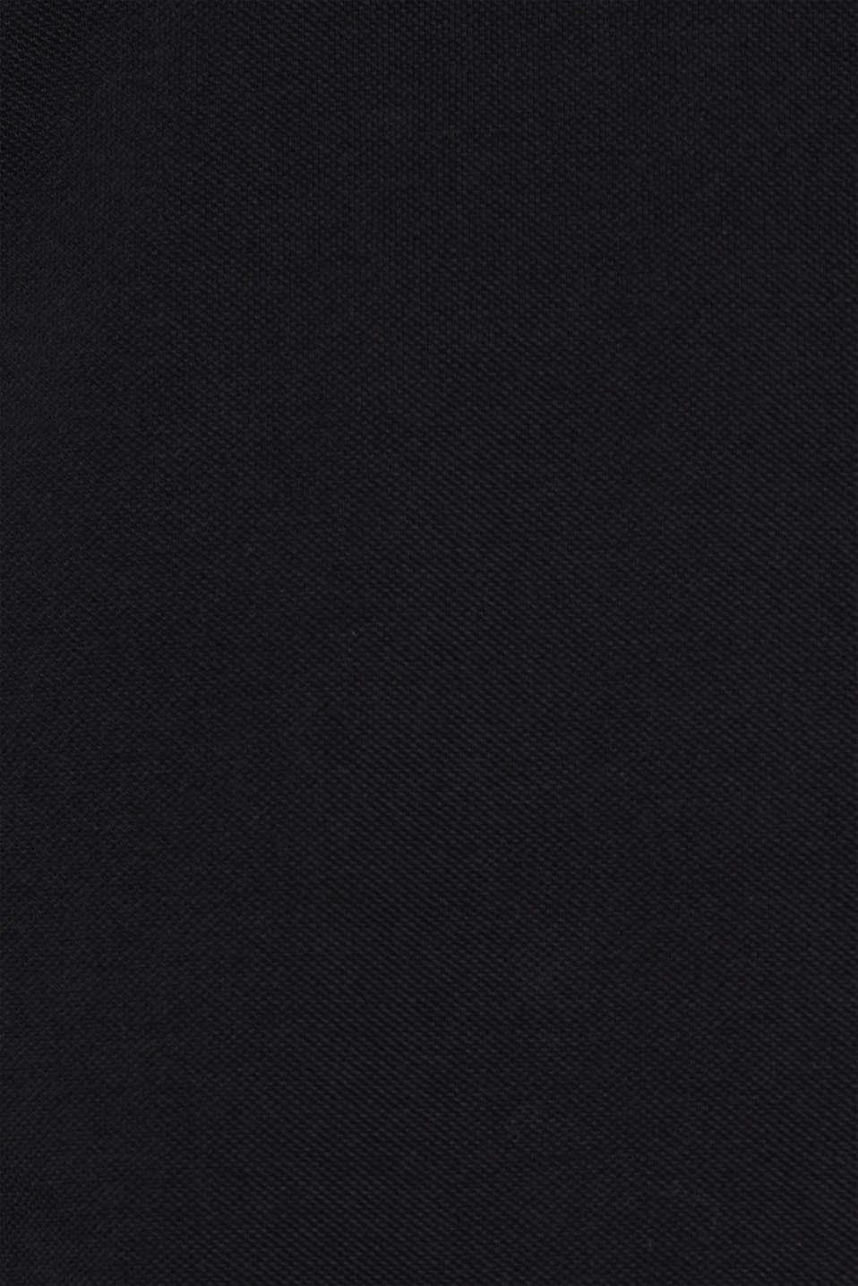 Piqué polo shirt made of Pima cotton, BLACK, detail image number 4