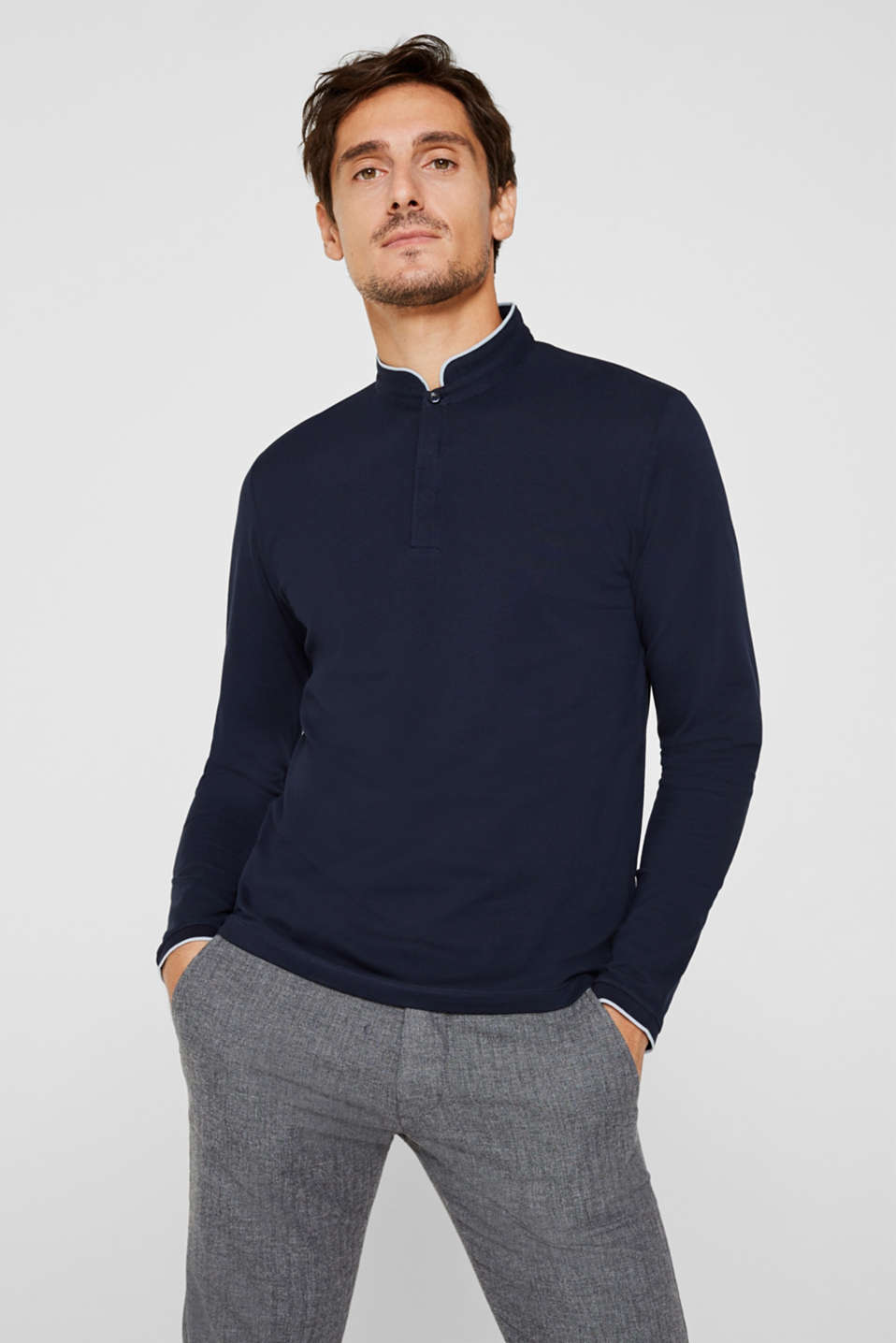 Polo shirts, NAVY, detail image number 0