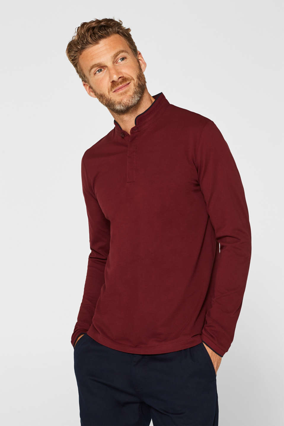 Polo shirts, BORDEAUX RED, detail image number 0