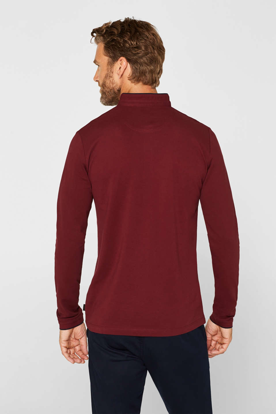 Polo shirts, BORDEAUX RED, detail image number 3