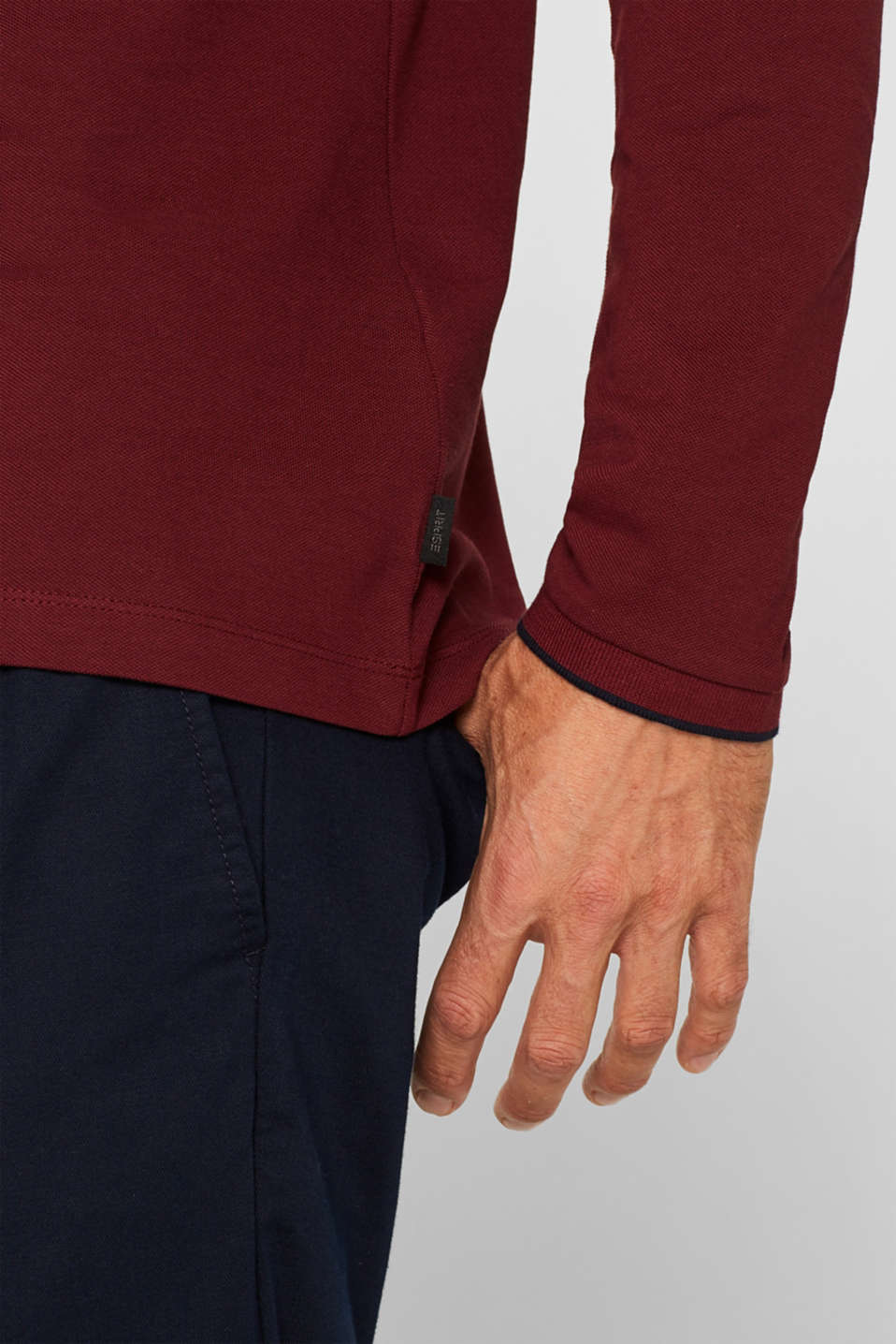 Polo shirts, BORDEAUX RED, detail image number 1