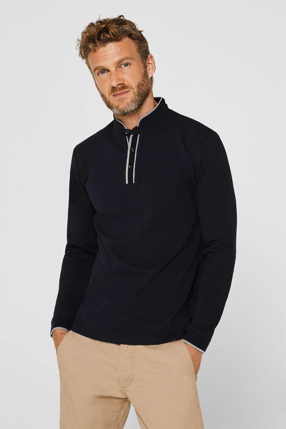 Piqué polo shirt in 100% cotton, BLACK, detail image number 0