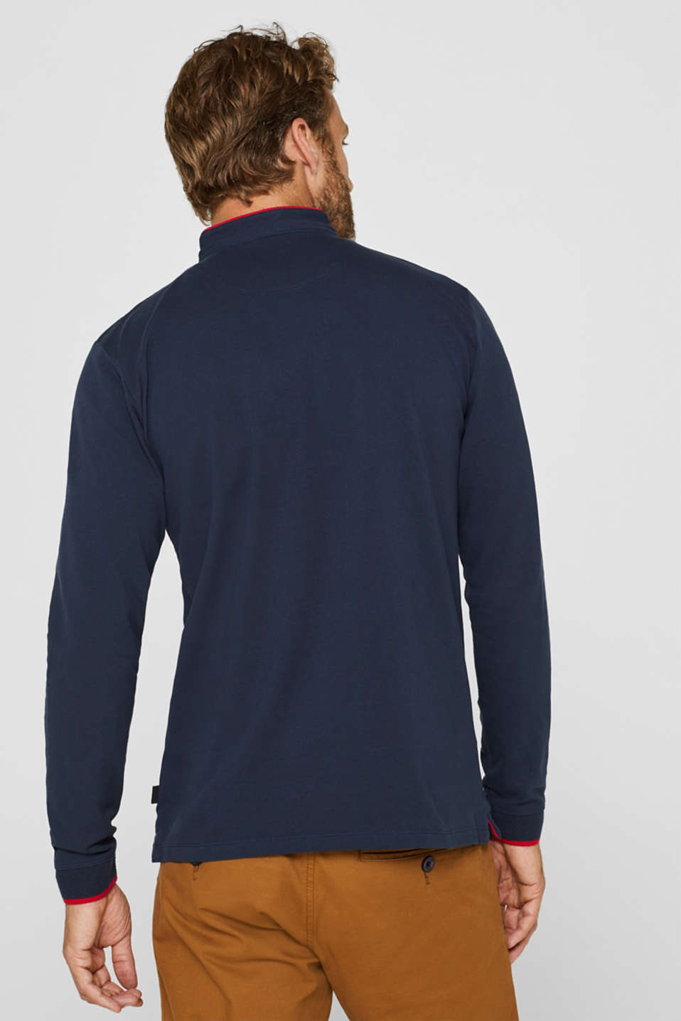 Piqué polo shirt in 100% cotton, NAVY, detail image number 3